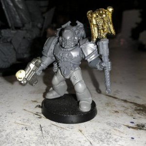 Self built Chaplain in mk.4 Maximus pattern armour.  Yet another addition to my Chaplains.