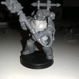 Chaplain, with two-handed Crozius.  Body comes from Anvil Industries.