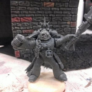Another Chaplain, I know, big shock.  Head is from Anvil Industries.