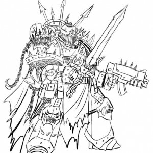 A Hawk of Malice Chaos Space Marine