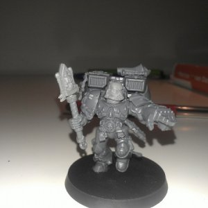 Yet another self built Chaplain, Chaplain Ordeus is the kind of guy you want to get close to the enemy as soon as possible, that's why he has the jump