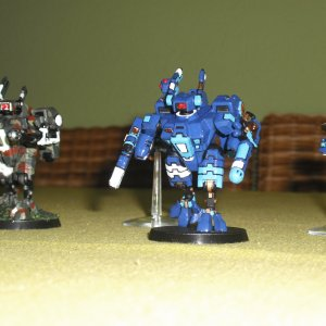 Tau Empire XV8 Battlesuit Team