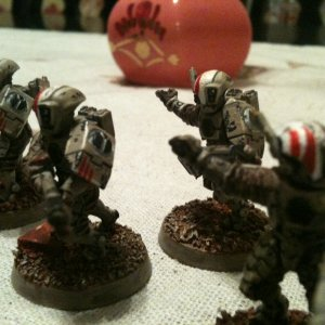 Desert battle worn Tau Fire Warriors