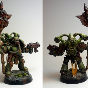 Death Guard Plague Marine with Icon
