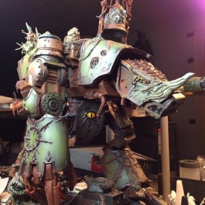 Nurgle warhound titan