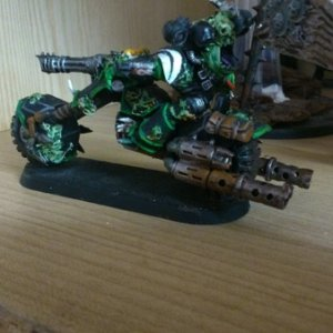Nurgle lord on bike