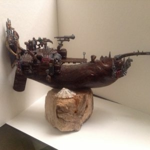 scratch built from a peace of drift wood and some bits left over from old kits :)