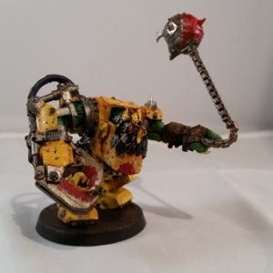 The warboss for DA GOLDEN WAAAGH