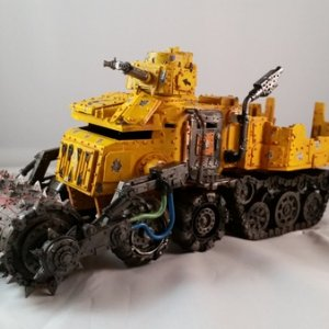 Battlewagon showing big shootas and deathrolller