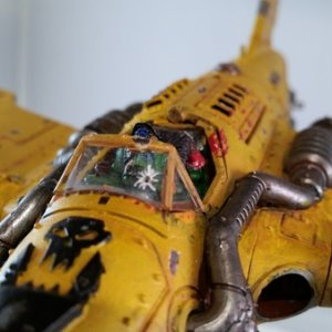 More Better Shots of the first dakka jet. Mainly showing my little characterization and injury of the character