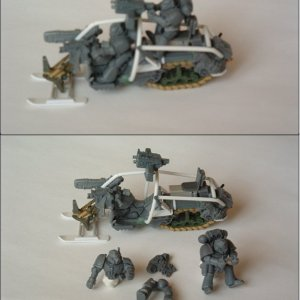 Space Wolves Snowmobile