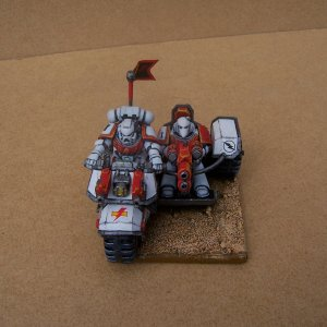 White Scars Space Marine Bike Squadron (Attack Bike with Multi Melta)