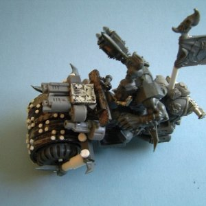 Ork Nob with Deathrolla front wheel