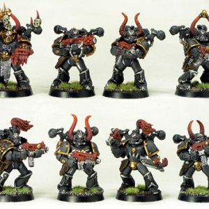 Unit of Chaos Space Marines