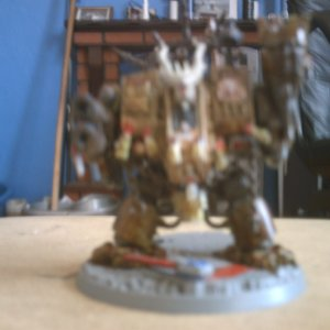 this is my chaos nurgle Drednought