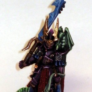 Dark Elf Dreadlord with Great Weapon