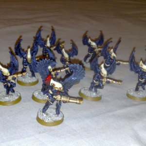 Eldar Swooping Hawks and Exarch