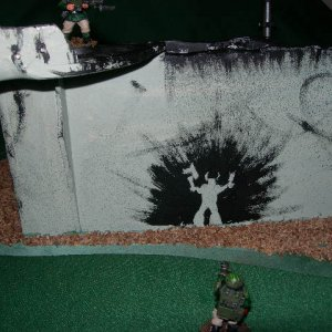 Cheap home-made terrain.