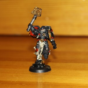 Space Marine Chaplain with jump pack